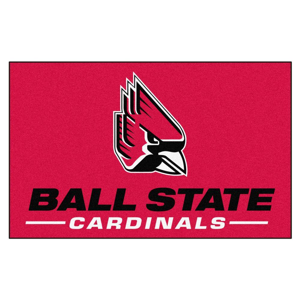 Fanmats Ncaa Ball State University Red 5 Ft X 8 Ft Area