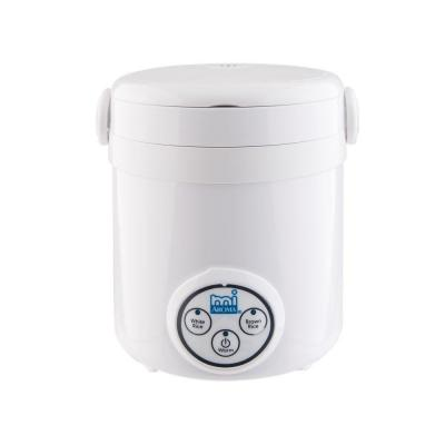3-Cup White Mini Rice Cooker with Non-Stick Cooking Pot