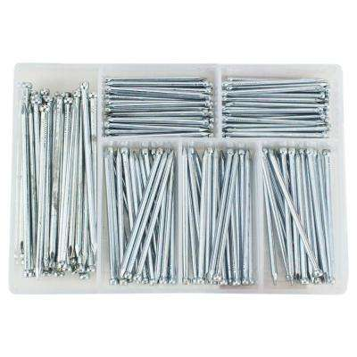 Zinc-Plated Nail Assortment (174-Pack)
