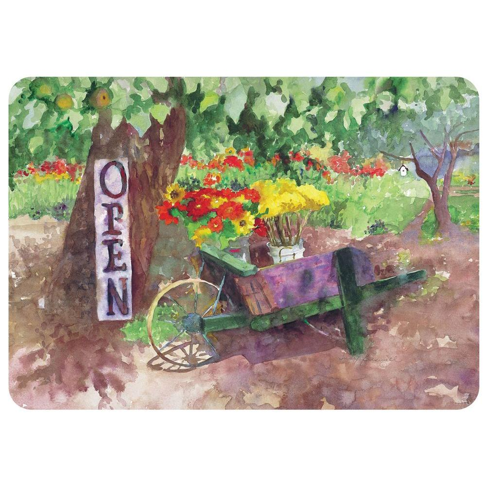 Bungalow Flooring Open For Business 22 in. x 31 in. Polyester Surface Mat