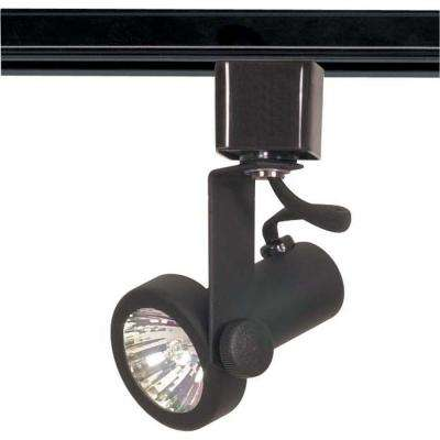 1-Light MR16 120-Volt Black Gimbal Ring Track Lighting Head