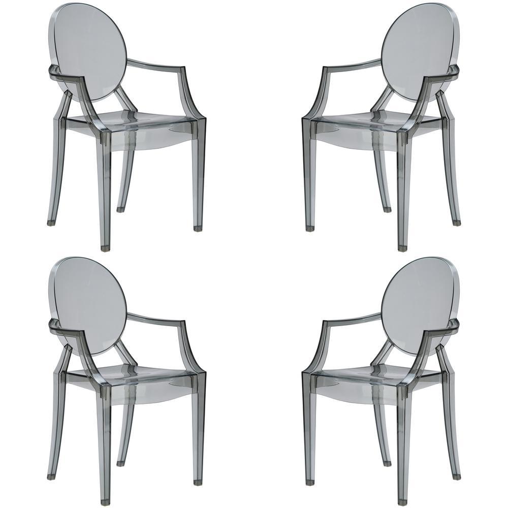 Burton Smoke Arm Chair (Set of 4)