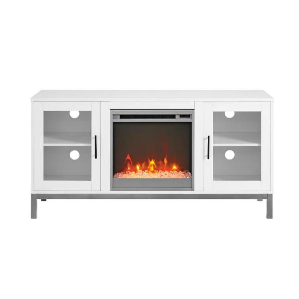 Walker Edison Furniture Company 52 in. Avenue Wood Fireplace TV Console