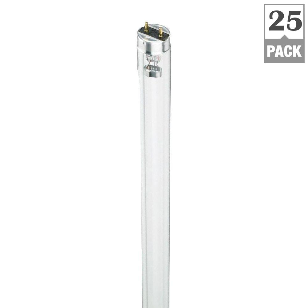 18-Watt 2 ft. Germicidal Linear TUV T8 Fluorescent Light Bulb (25-Pack)