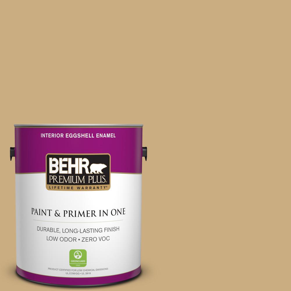 BEHR Premium Plus 1-gal. #S310-4 Perennial Gold Eggshell Enamel Interior Paint