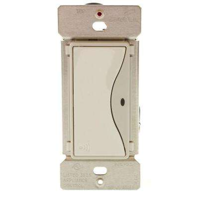 Aspire 15 Amp RF Single-Pole Wireless Light Switch, White Satin