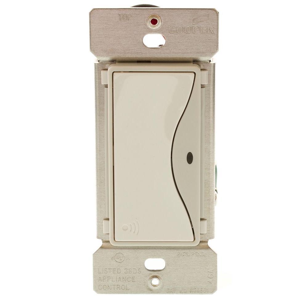 Aspire 15 Amp RF Single-Pole Wireless Light Switch, White Satin