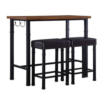 Austin 3-Piece Rustin Brown Bar Table Set