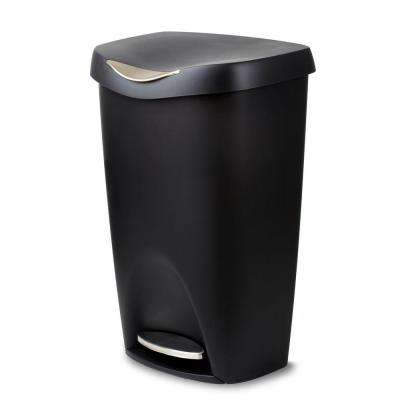 Brim 13 gal. Plastic Touch-Less Waste Basket