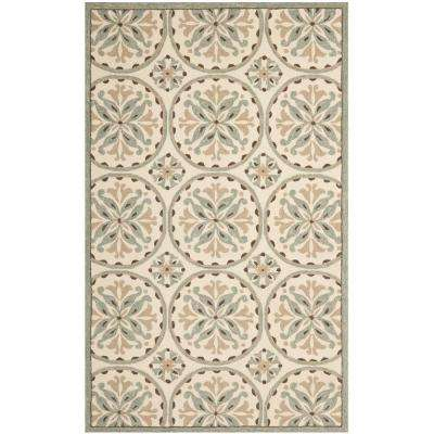 Four Seasons Green/Brown 4 ft. x 6 ft. Area Rug