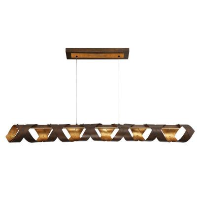 Banderia Collection 30-Watt Linear Bronze Integrated LED Chandelier