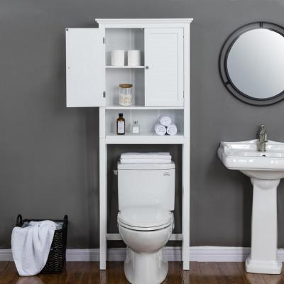 26 in. W x 9.25 in. D x 68.26 in. H Bathroom Cabinet Spacesaver in White