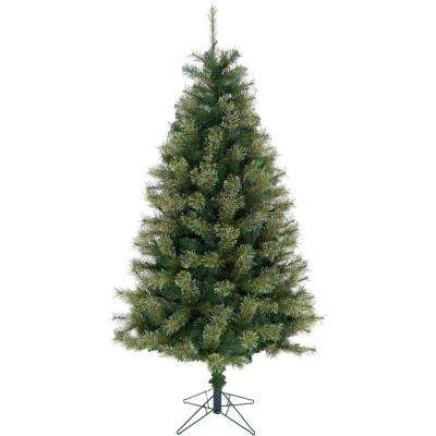 7.5 ft. Green Vermont Pine Green Christmas Tree with Stand