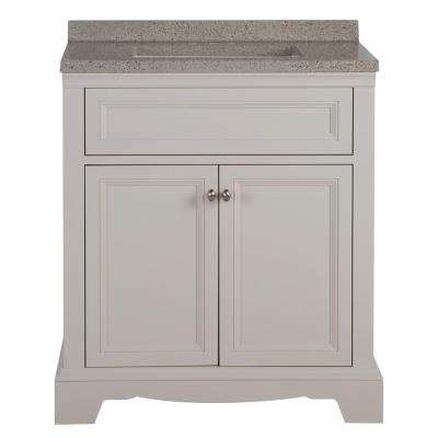 Windsor Park 31.57 in. W x 18.75 in. D Vanity in Cream with Solid Surface Vanity Top in Autumn with White Basin