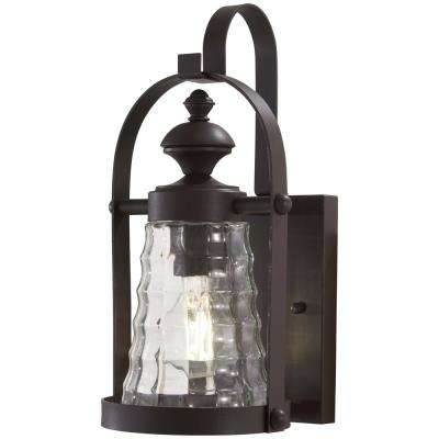 Sycamore Trail 1-Light Dorian Bronze Outdoor Wall Mount Lantern
