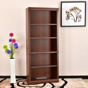 hot sale online 4b988 f5ed3 Hampton Bay Dark Brown Wood Open Bookcase THD130419.1a.OF ...