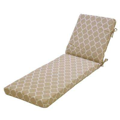 Toffee Ogee/Toffee Outdoor Chaise Lounge Cushion
