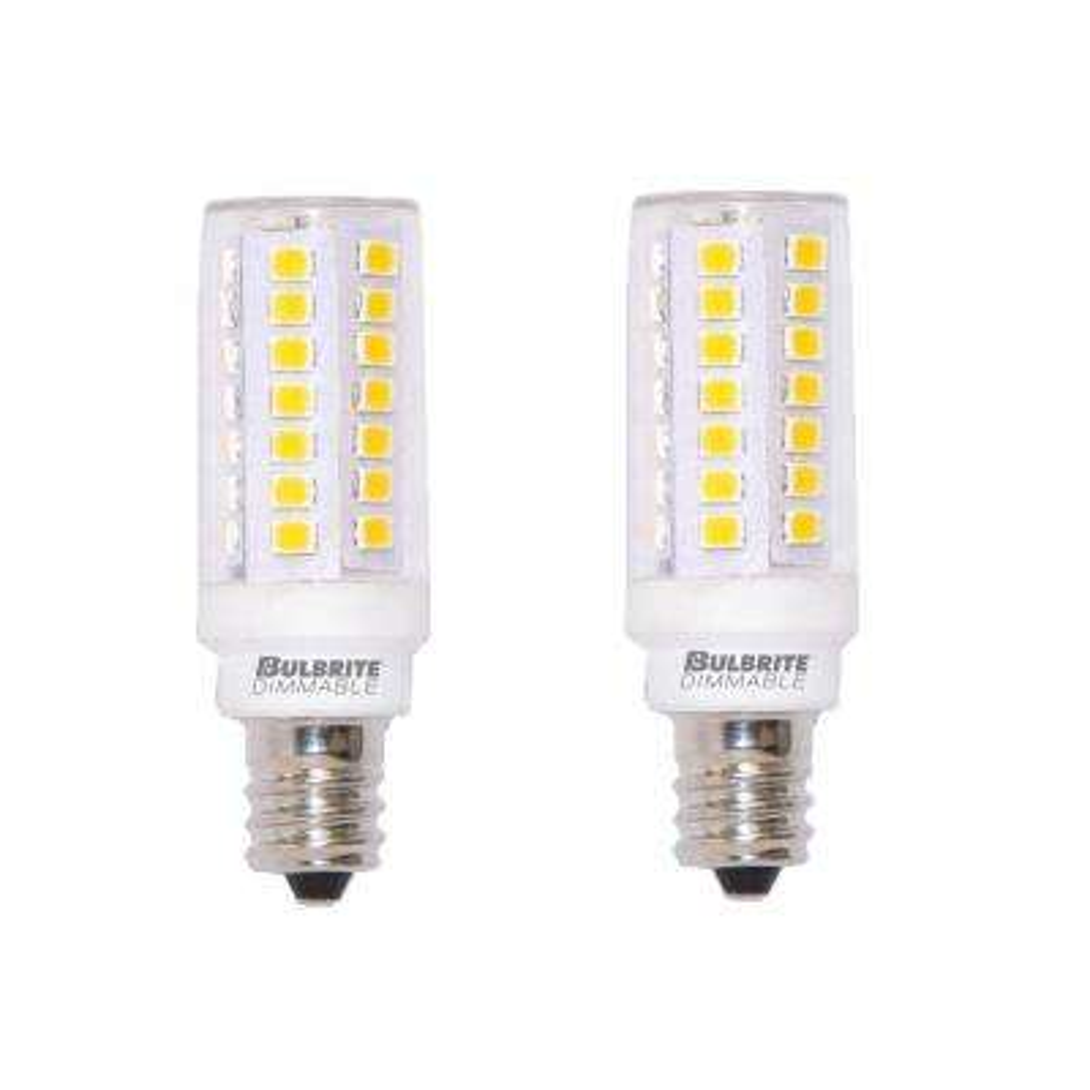 T6 Bulb 60 Dimmable Candelabra Led Light Warm Watt White2 Pack Equivalent WE2IH9YD