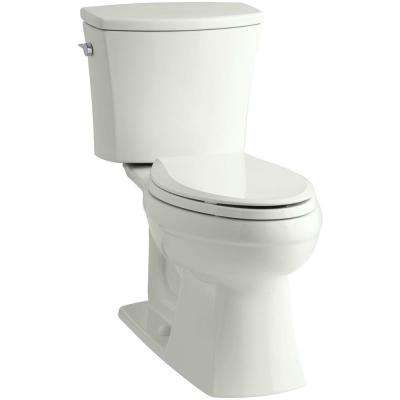 Kelston Comfort Height 2-piece 1.6 GPF Single Flush Elongated Toilet with AquaPiston Flushing Technology in Dune