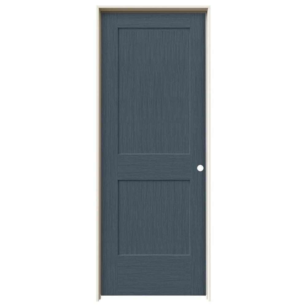 Jeld wen 30 in x 80 in monroe denim stain left hand for Mdf solid core interior doors