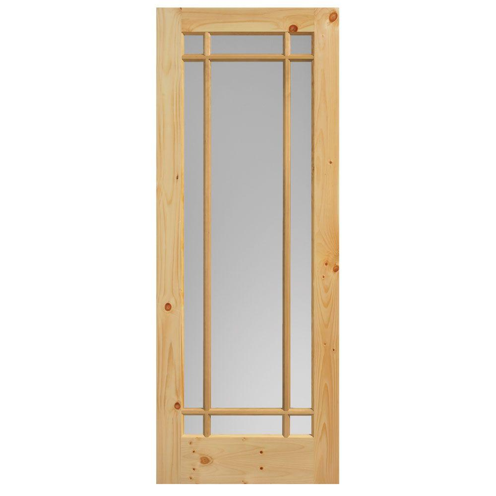 Knotty Pine Cabinet Doors: Masonite 30 In. X 84 In. Prairie Knotty Pine Veneer 9-Lite