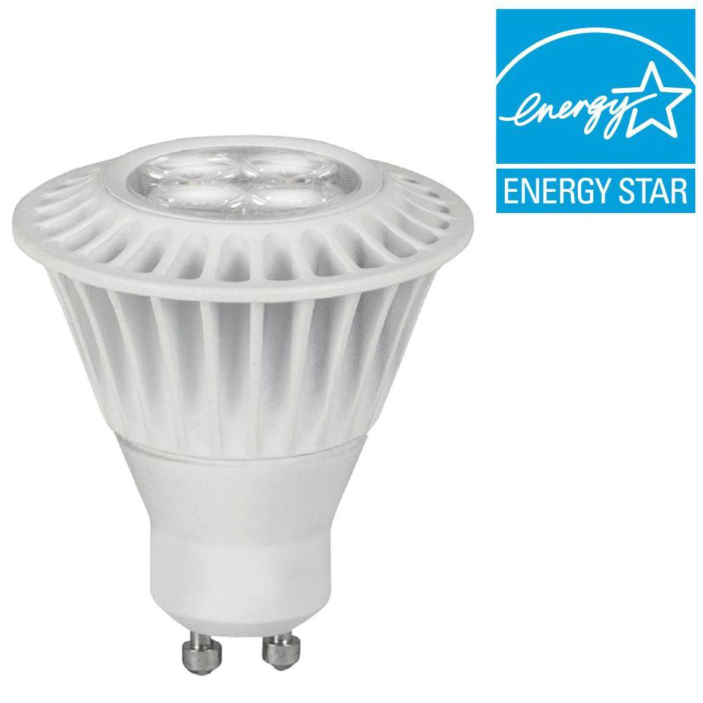 TCP 50W Equivalent Bright White (3000K) MR16 GU10 Dimmable LED Flood Light Bulb