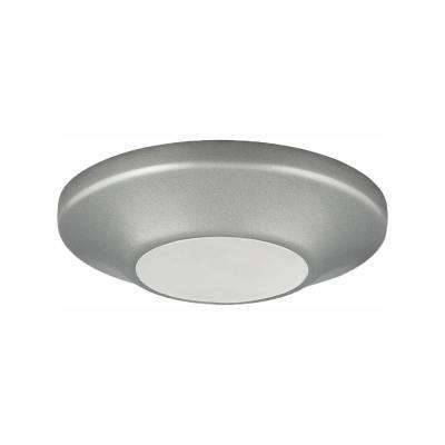 5-1/2 in. Round 1-Light Metallic Gray LED Surface Mount Light