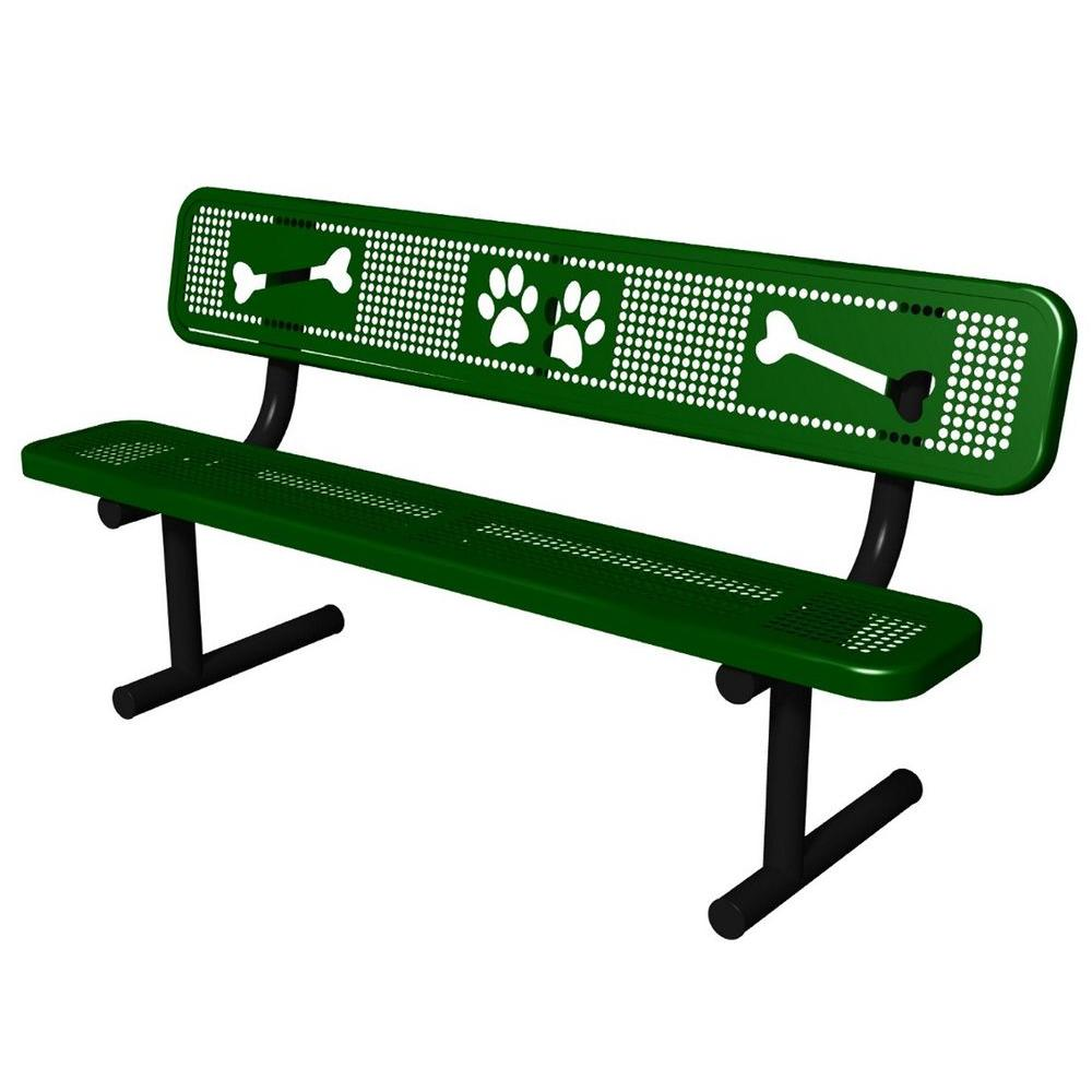 Ultra Play Green Paws Dog Park Commercial Bench