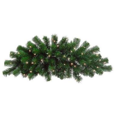 28 ft. Pre-Lit Deluxe Windsor Pine Artificial Christmas Swag with Clear Lights