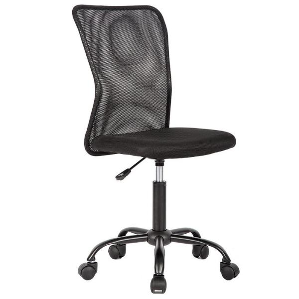 Boyel Living Ergonomic Black Mid Back Mesh Desk Computer Chair With Adjustable Seat Armrests And Lumbar Support Ok Oc1265 Bk The Home Depot