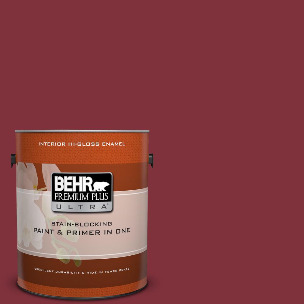 1 gal. #ECC-15-3 Cherry Bark Hi-Gloss Enamel Interior Paint