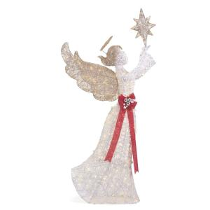 Polar Wishes 72 in. Life Size Christmas Angel Yard Decoration with LED Lights
