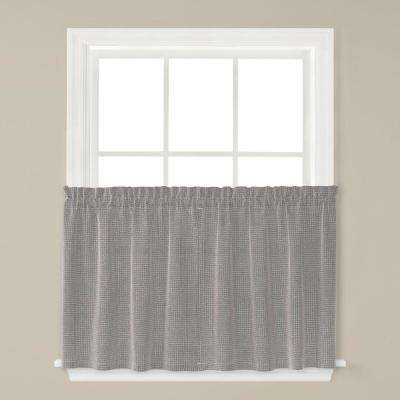 Nelson 57 in. W x 24 in. L Polyester Window Tier Pair in Silver