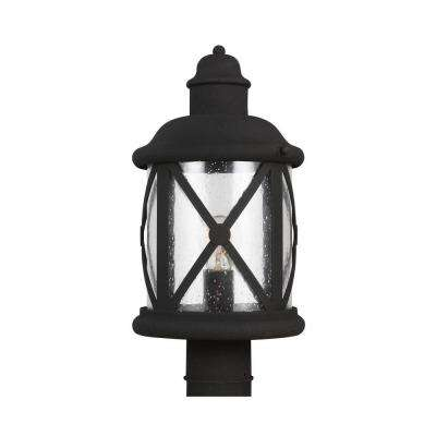 Lakeview 1-Light Black Outdoor Post Top