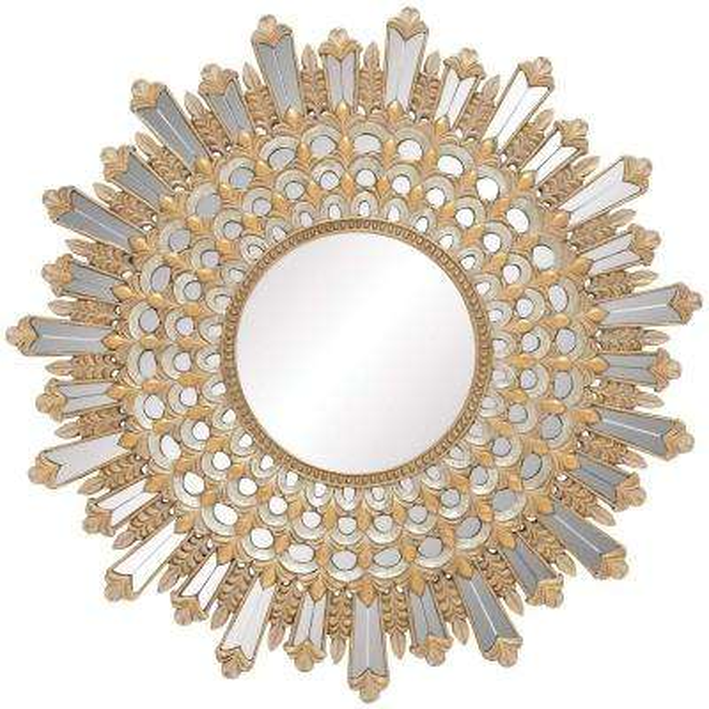 Salinas Sunburst Age Gold Mirror