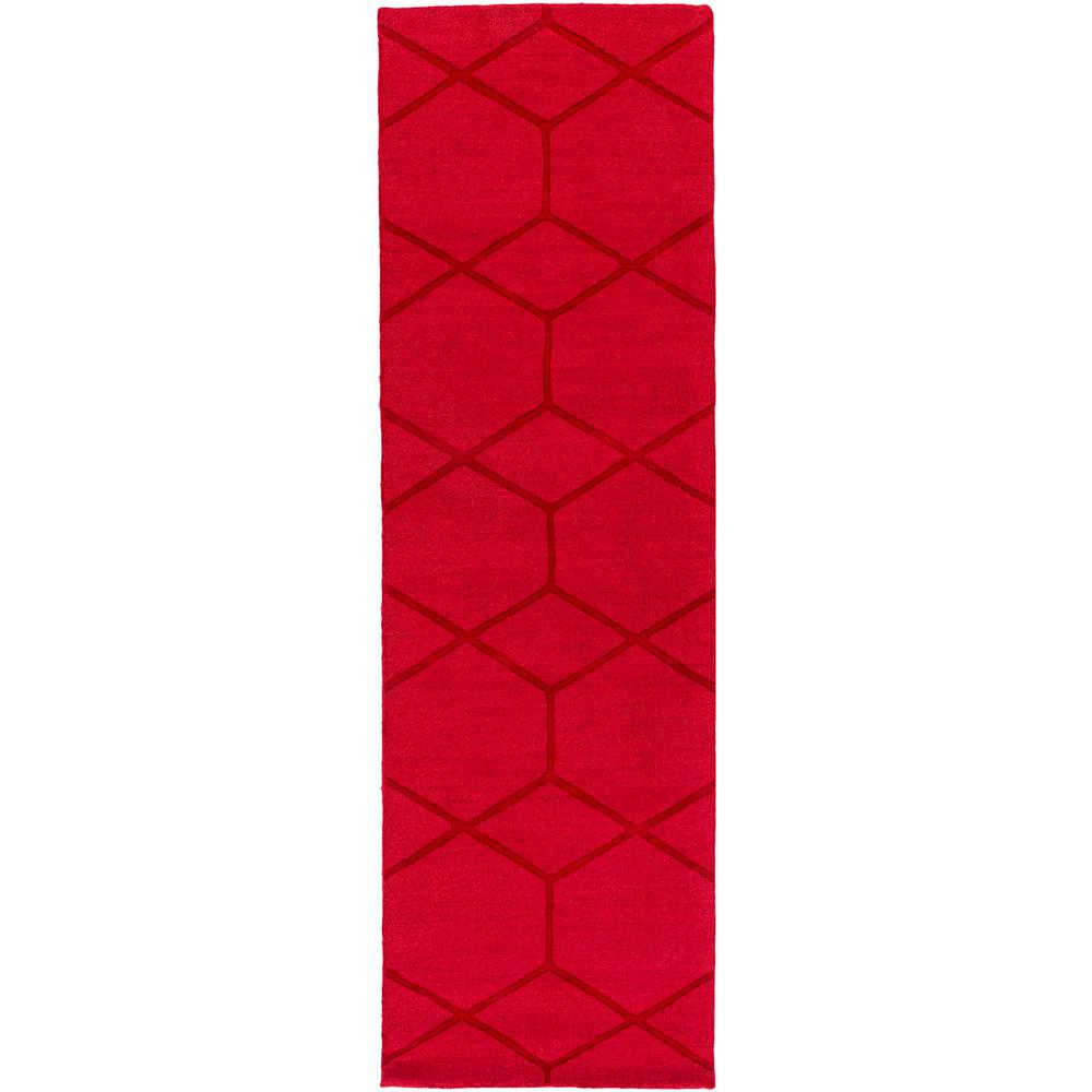 Cenric Bright Red 2 ft. 6 in. x 8 ft. Indoor