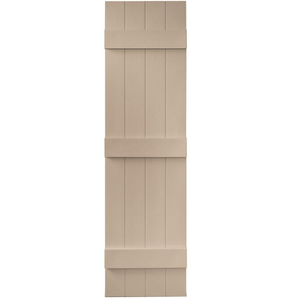 Builders Edge 14 In X 55 In Board N Batten Shutters Pair