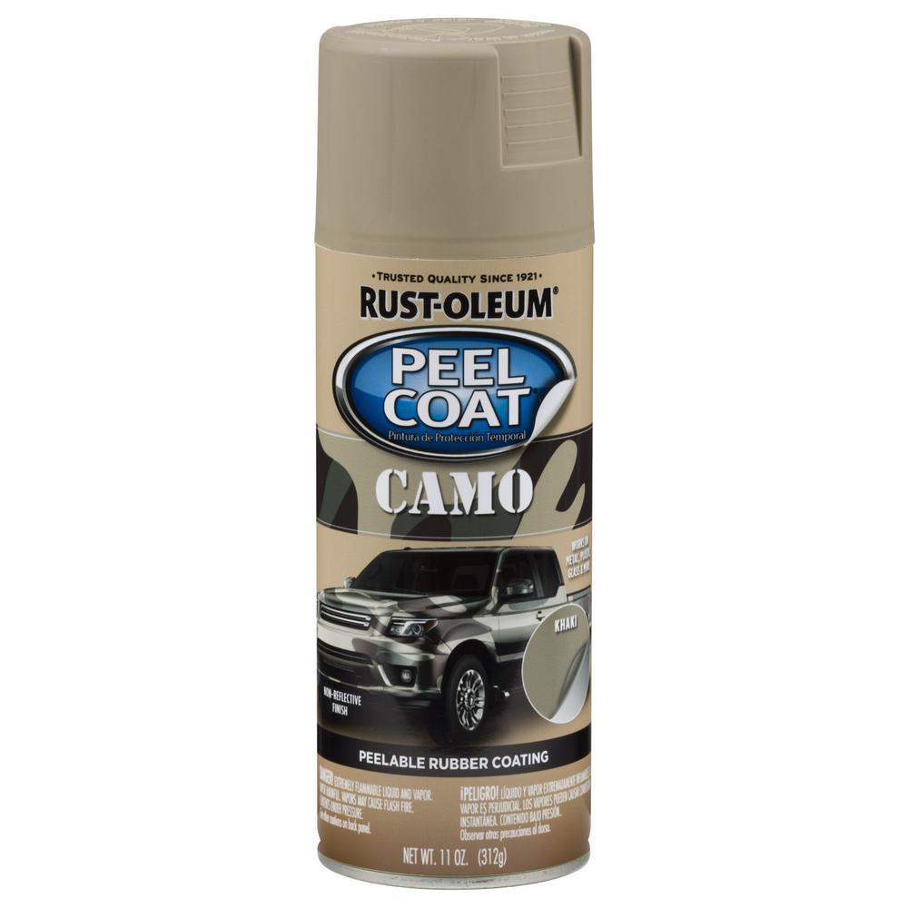 11 oz. Peel Coat Gloss Camo Khaki Rubber Coating Spray Paint (6-Pack)