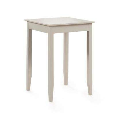 Accera 42 in. H Distressed Antique White Square Pub Table