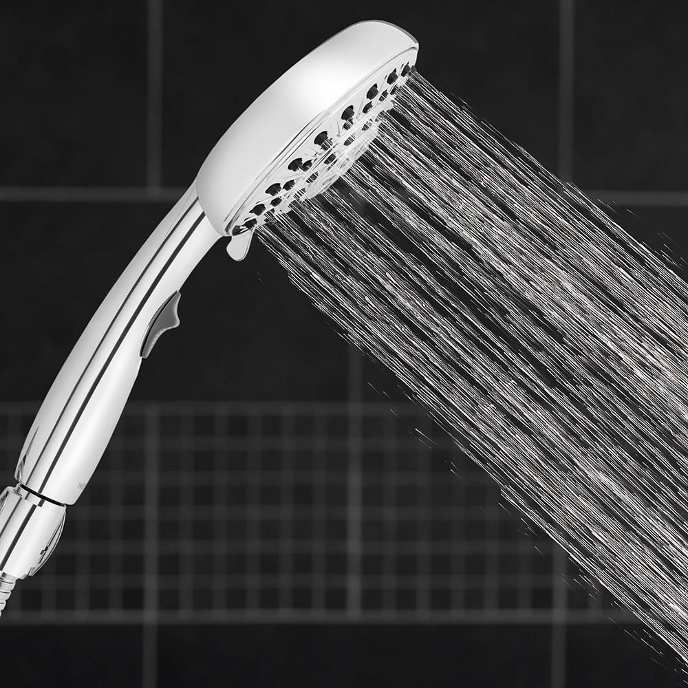 Srmsvyd Hand Held Shower Head High Pressure 5 Spray Setting Multi-Functions Mass