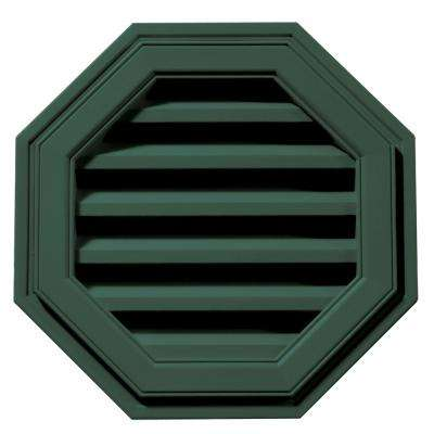 18 in. Octagon Gable Vent in Forest Green