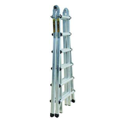 25 ft. Aluminum Multi-Position Ladder with 300 lb. Load Capacity Type 1A Duty Rating