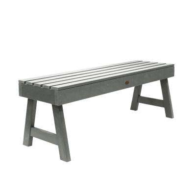 Weatherly 48 in. 2-Person Coastal Teak Recycled Plastic Outdoor Picnic Bench