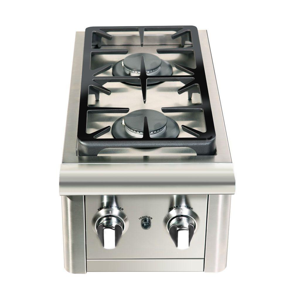 Capital Precision 2-Burner Stainless Steel Built-In