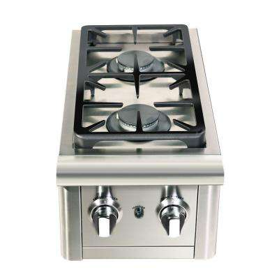 Precision 2-Burner Stainless Steel Built-In Natural Gas Double Side Burner