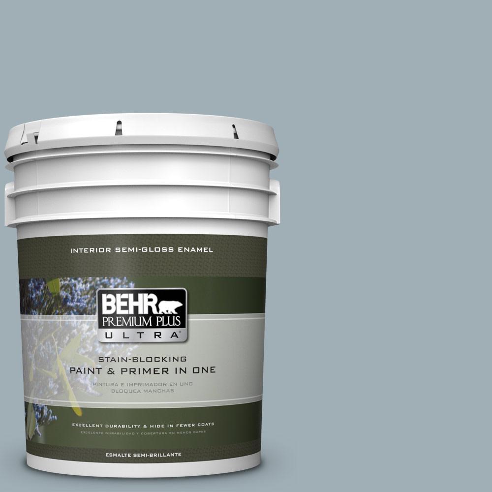 5 gal. #ECC-22-2 Bay View Semi-Gloss Enamel Interior Paint