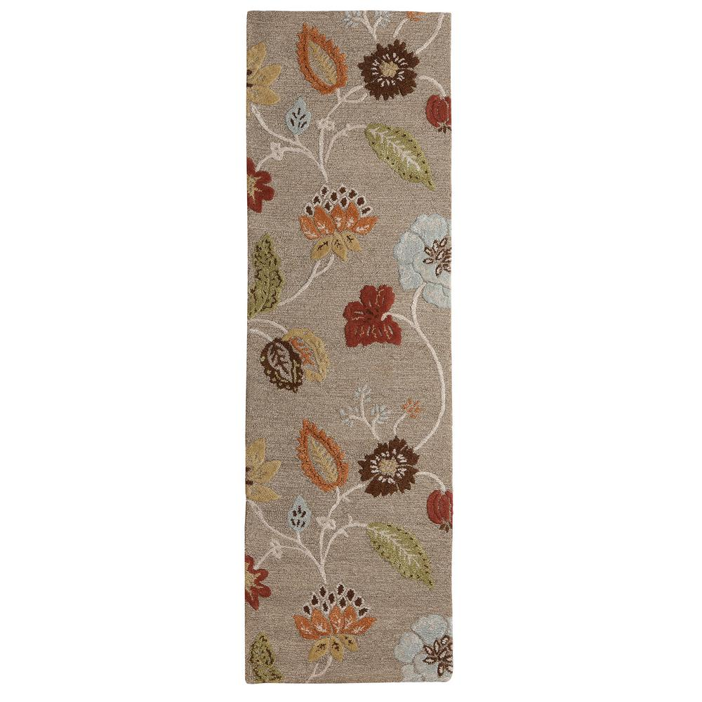 Portico Grey Brown 2 ft. 6 in. x 8 ft. Runner