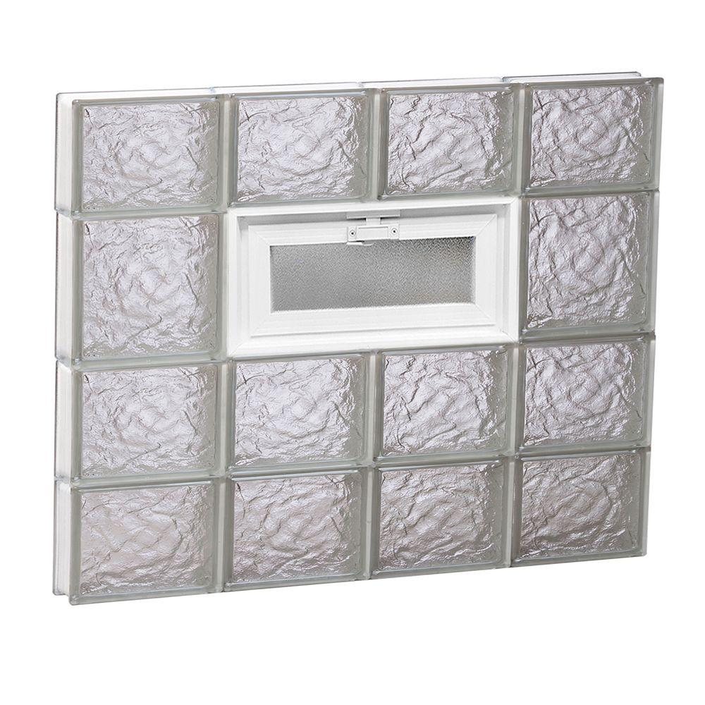 31 in. x 25 in. x 3.125 in. Frameless Ice Pattern