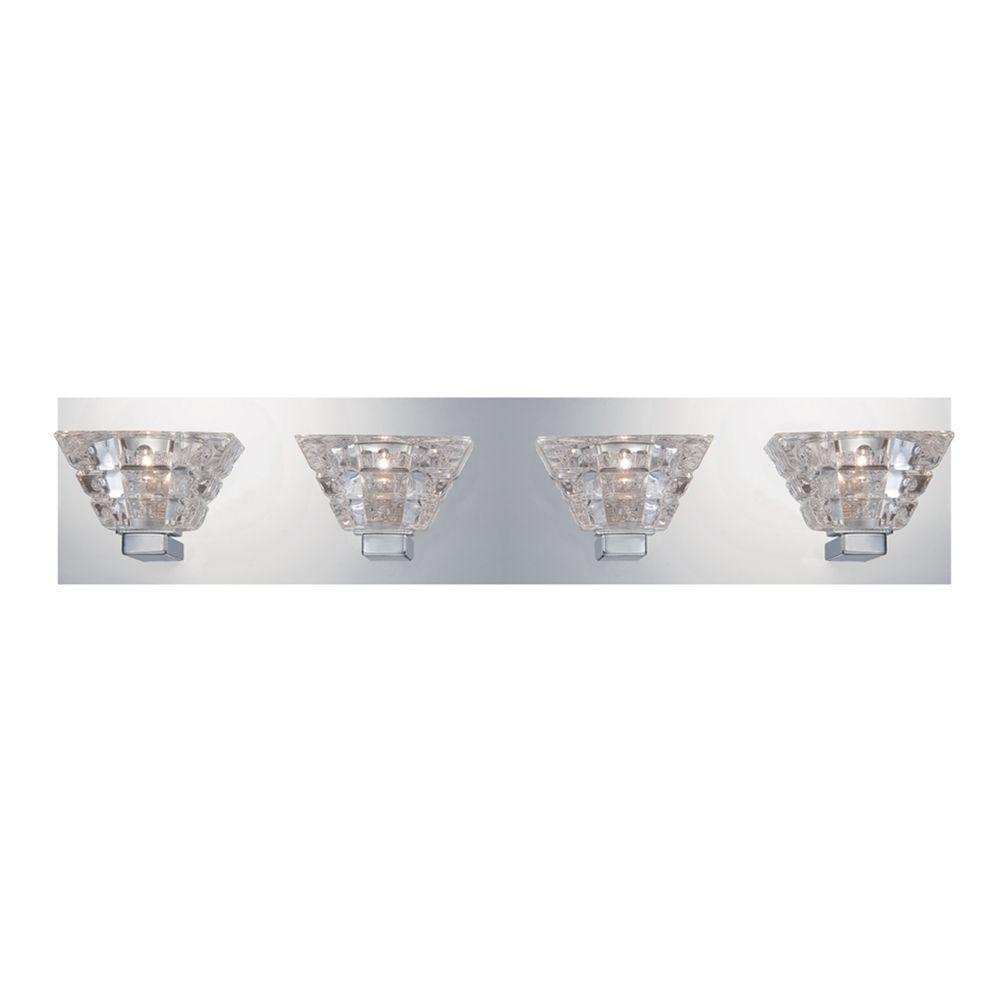 Zilli Collection 4-Light Chrome Bath Bar Light