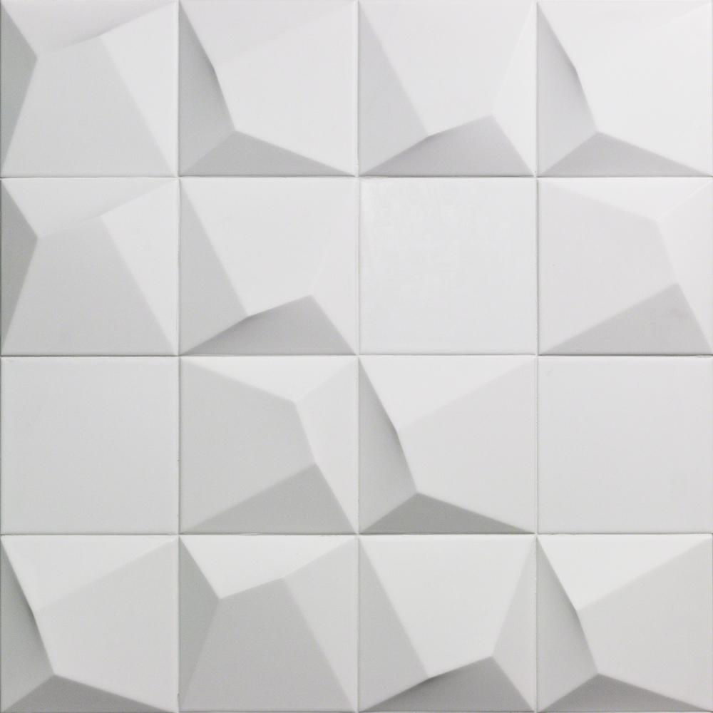 - Ivy Hill Tile Evermore 6 In. X 6 In. X 12mm White 3D Ceramic Wall
